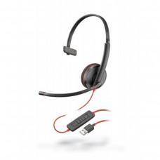 Auricular, Plantronics, 209744-101, Blackwire C3210, USB A, Monoaural, Negro