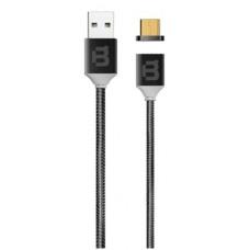 Cable de Datos, Blackpcs, CABLLTM-3, USB A, Lightning, 1m, 2.1A, Magnético, Negro