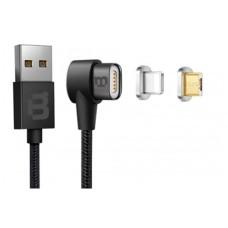 BLACKPCS - Cable de Datos, Blackpcs, CABLMLPML-2, USB A, Micro USB B, Lightning, 1m, Negro