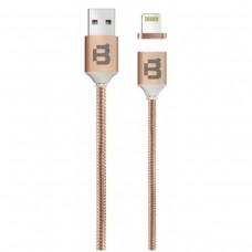 BLACKPCS - Cable de Datos, Blackpcs, CACOLTM-2, USB A, Lightning, 1m, Tejido, 2A, Magnético, Cobre