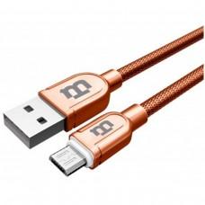 BLACKPCS - Cable de Datos, Blackpcs, CACOMTE-3, USB A, Micro USB B, 1m, Tejido, 2.1 A, Cobre