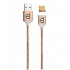 BLACKPCS - Cable de Datos, Blackpcs, CACOMTM-2, USB A, Micro USB B, 1m, 2.1A, Magnético, Cobre