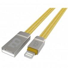 BLACKPCS - Cable de Datos, Blackpcs, CAGLZ-3, USB A, Lightning, 1m, 2.1A, Dorado