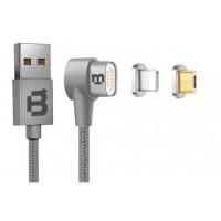 Cable de Datos, Blackpcs, CASMLPML-2, USB A, Lightning, 1m, Plateado
