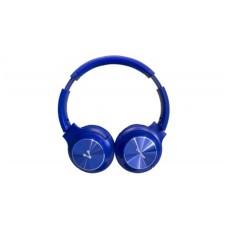 VORAGO - Audífonos con Micrófono, Vorago, HPB-200-BL, Bluetooth, Plegable, Azul
