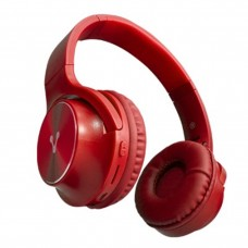 VORAGO - Audífonos con Micrófono, Vorago, HPB-200-RD, Bluetooth, Plegable, Rojo