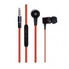 GETTTECH - Audífonos con Micrófono, Getttech, MI-2140R, 3.5 mm, Negro, Rojo
