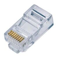 Plug RJ-45, Qian, NW5100, CAT 5E, Bote, 100 Piezas, 50 Micras