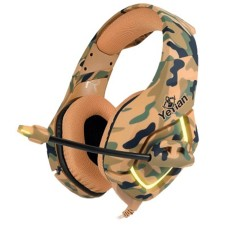 - Audífonos con Micrófono, Yeyian, YDF-33401D, S3000 LED, USB 3.5 mm, Desierto