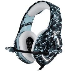 Audífonos con Micrófono, Yeyian, YDF-33401G, S3000 LED, USB 3.5 mm, Gris