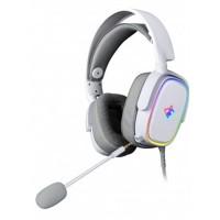 Audífonos con Micrófono, Yeyian, YDG-33406, Proud Serie 3500, RGB, 3.5 mm, Blanco