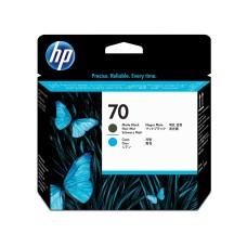 HP - Cabezal de Impresión, HP, C9404A, 70, Negro Mate y Azul
