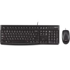 Teclado y Mouse, Logitech, 920-004428, MK120, Alambrico, USB, Negro