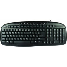 Teclado, Easy Line, Multimedia Core, USB, Negro
