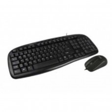 Teclado y Mouse, Easy Line, USB, Multimedia, Negro