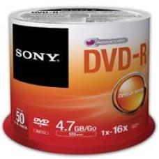 SONY - DVD-R, Sony, 50DMR47SPBT, 50 DVDs, 4.7 GB