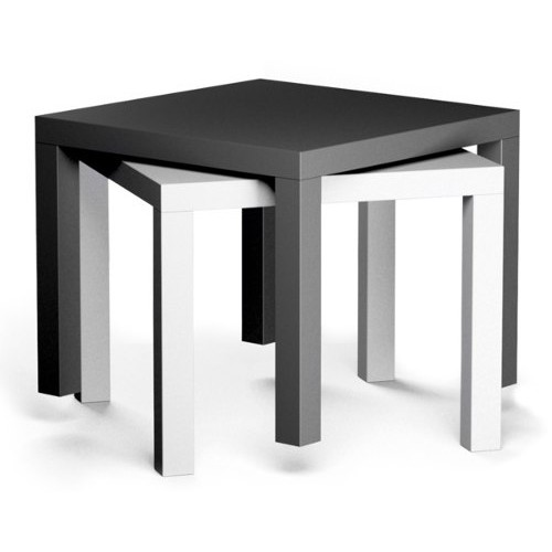 Mesa lateral minimalista ikea modelo lack blanca - Mesa lack ikea medidas ...