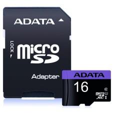 Memoria Micro SD, Adata, AUSDH16GUICL10-RA1, 16 GB, SDHC, UHS-I C10