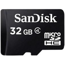 SANDISK - Memoria Micro SDHC Sandisk 32GB C4 c/Adaptador