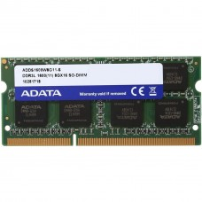 Memoria RAM, ADATA, ADDS1600W8G11-S, SODIMM, 8 GB, DDR3L, 1600 MHz, Laptop