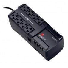 Regulador de Voltaje, SmartBitt, SBAVR2200, 2200 VA, 1100 W, 8 Contactos, Protección de línea telefónica