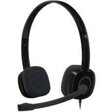 Audífonos con Micrófono, Logitech, H151, Diadema, Estéreo, 3.5 mm