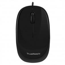 Mouse, True Basix,  TB-01001, Alámbrico, USB, Negro