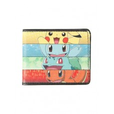 Buckle-Down - Pokemon, Cartera, Kanto Starters, Pikachu, Squirtle, Bulbasaur, Charmander