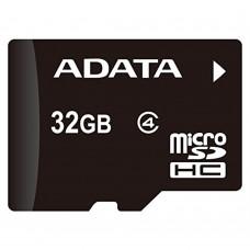 ADATA - Memoria Micro SDHC, Adata, AUSDH32GCL4-RA1, 32 GB, Clase 4, Adaptador SD