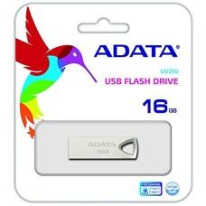ADATA - Memoria USB 2.0, Adata, AUV210-16G-RGD, 16 GB, Metálico
