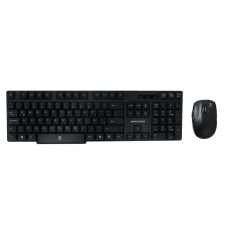 Perfect Choice - Teclado y Mouse, Perfect Choice, PC-200994, Inalambrico, Antiderrames, USB, Negro