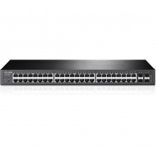 Switch Administrable , TP-Link, T1600G-52TS, 48 Puertos, 10/100/1000Mbps, Rack, 4x SFP, Negro