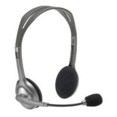 LOGITECH - Audífonos con Micrófono, Logitech, 981-000305, Diadema, 3.5 mm, Estéreo, Supresor de Ruido