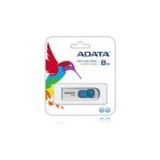 Memoria USB 2.0, Adata, AC008-8G-RWE, 8 GB, Blanco, Azul