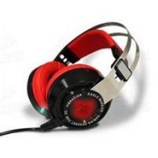 Audífonos con Micrófono, Eagle Warrior, ACFHS88RAVENEGW, Sonido 7.1, USB, Rojo