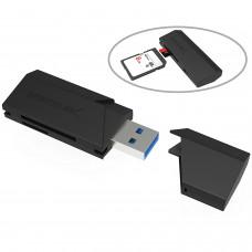 SABRENT - Lector de Tarjetas, Sabrent, CR-UMSS, Compacto, USB 3.0, Negro