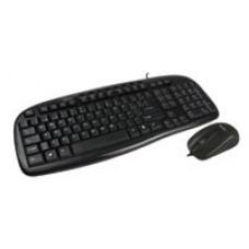 Teclado y Mouse, Easy Line, USB, Multimedia, Negro