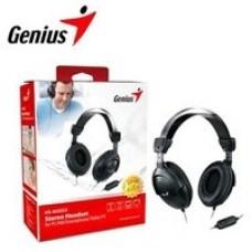 AUDIFONOS DIADEMA GENIUS HS-505X C/MIC, AJUSTABLES,3.5MM 1SOLO JACK NEGRA