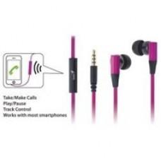 AUDIFONOS INTRAUDITIVOS GENIUS HS-M230, C/MIC IDEAL P/SMARTPHONE 3.5MM COLOR ORQUIDEA