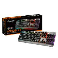 Teclado, Inlambrico, Gigabyte, GK-AORUS K7, RGB, Cherry MX Red, USB, Negro