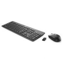 Teclado y Mouse, HP, N3R88AA#ABM, Inalámbrico, Slim, USB, Negro